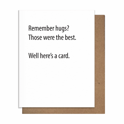 Remember Hugs Greeting Card