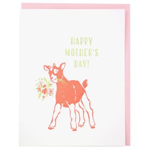Happy Mother's Day Baby Goat Greeting Card