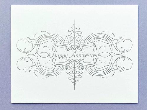 Happy Anniversary Letterpress Greeting Card