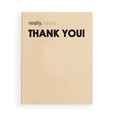 Really Really Thank You Greeting Card