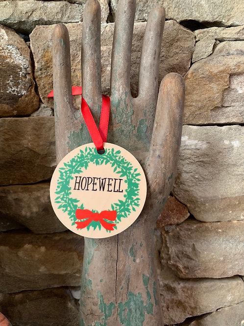 Hopewell Wreath Ornament