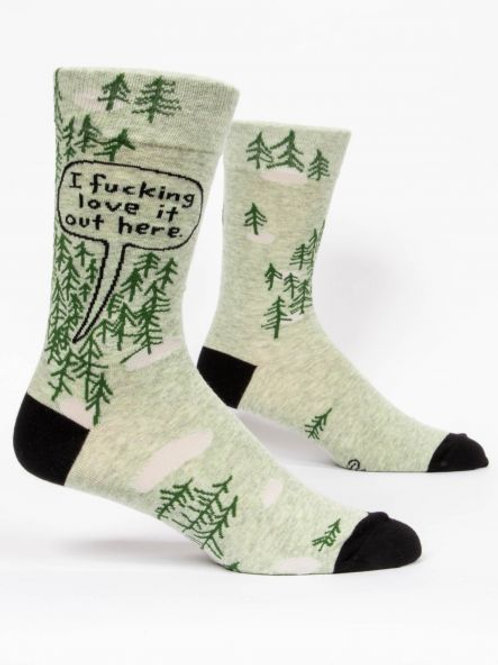 Men's I Fucking Love It Out Here Crew Sock