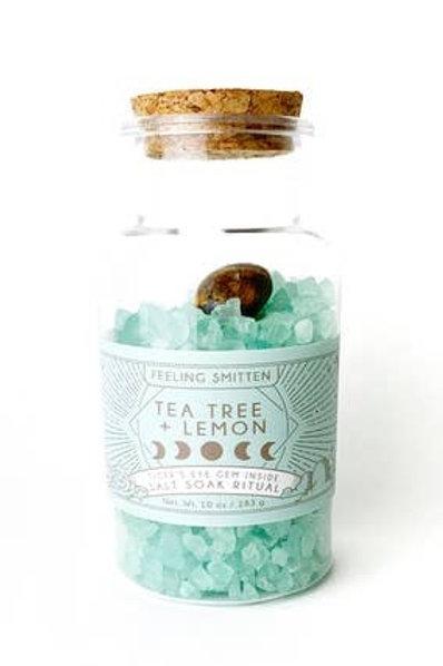 New Moon Tea Tree & Lemon Salt Soak