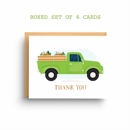 Thank You Truck Boxed Set of 6