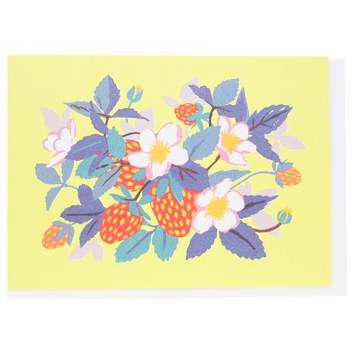 Strawberries Blank Notecard