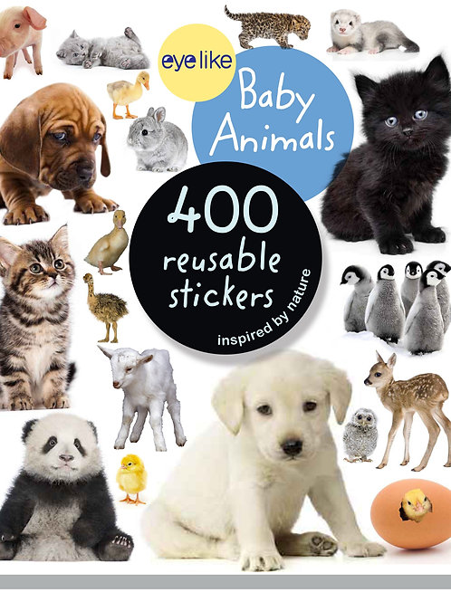 Eyelike Baby Animals 400 Reusable Stickers