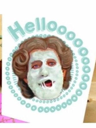 Hello Mrs. Doubtfire Greeting Card
