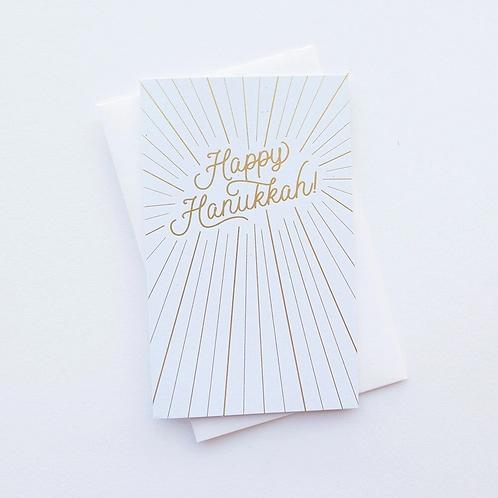 Happy Hanukkah Burst Greeting Card