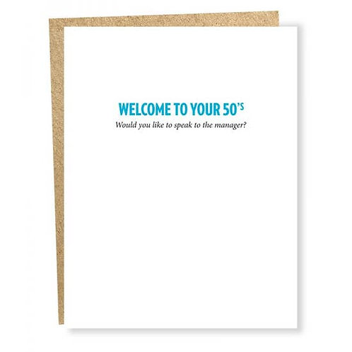 Welcome to Your 50's Greeting Card