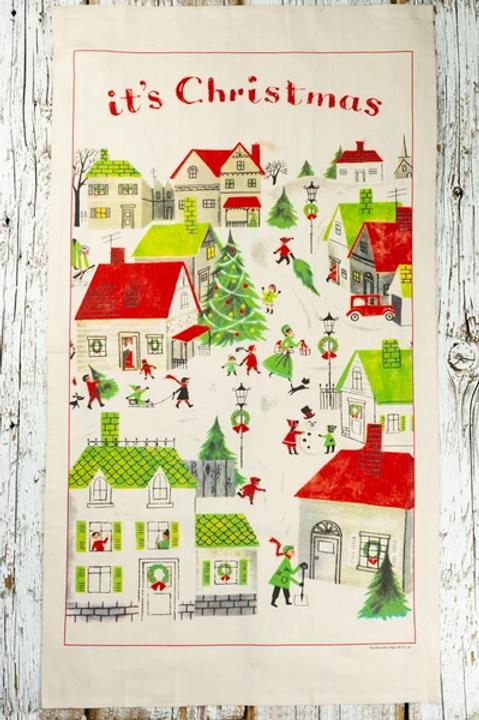 It's Christmas Vintage Tea Towel