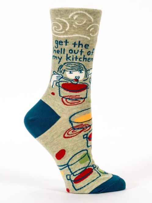 Get the Hell Out of My Kitchen Women's Crew Sock
