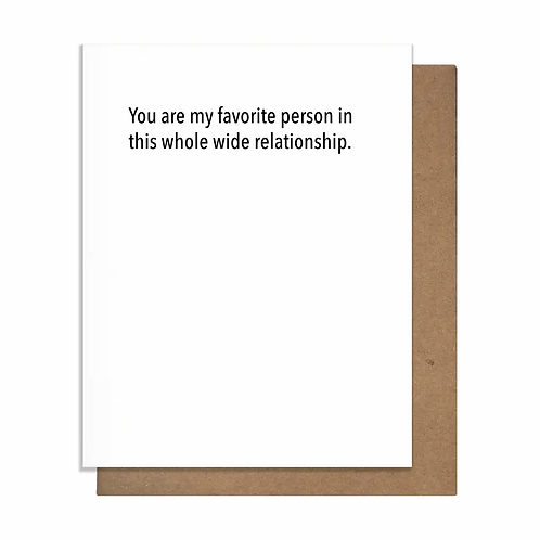 Favorite Person Whole Wide Greeting Card