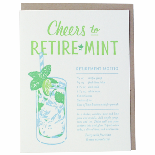 Cheers to Retiremint Greeting Card