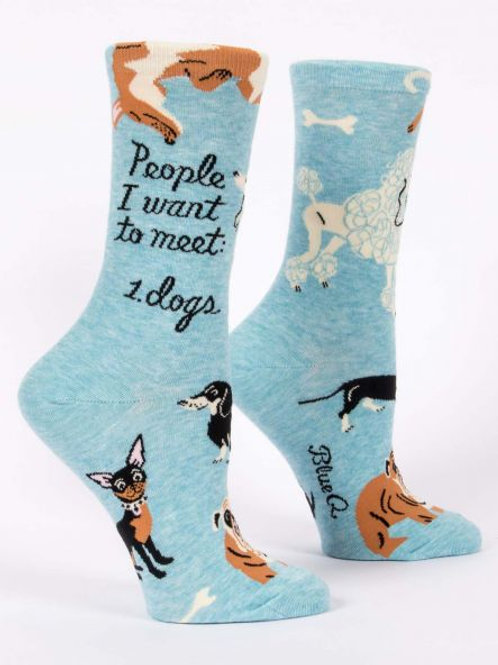 Women's People I Want To Meet Dogs Crew Sock
