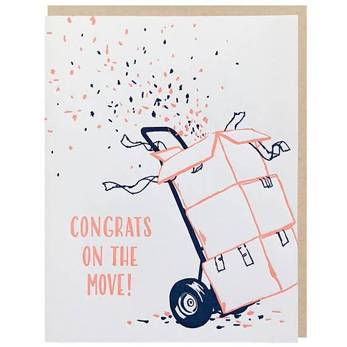 Congrats on the Move Greeting Card