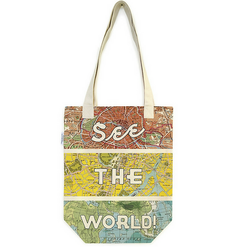 See the World Vintage Tote