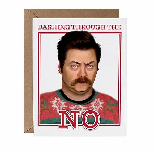 Dashing Through the No Greeting Card