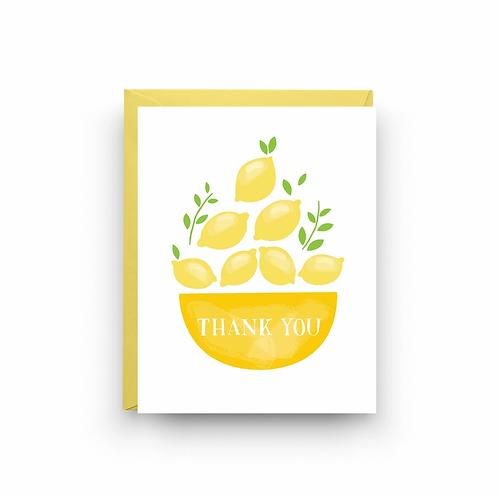 Lemons Thank You Greeting Card