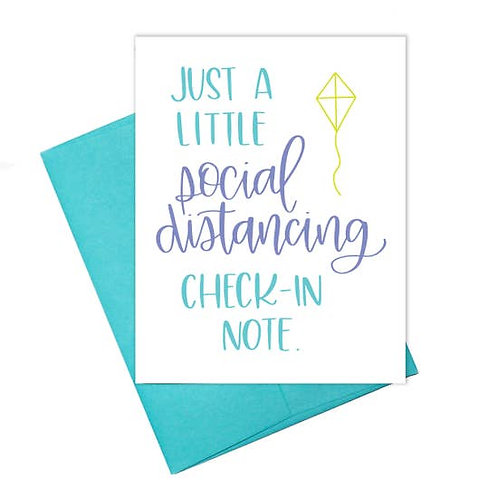 Social Distancing Check-In Note Greeting Card