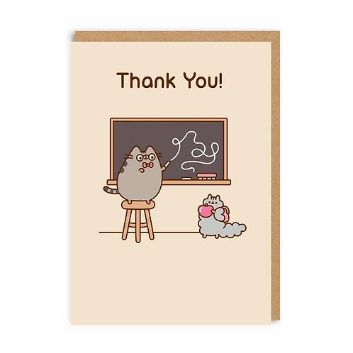 Thank You Pusheen Greeting Card