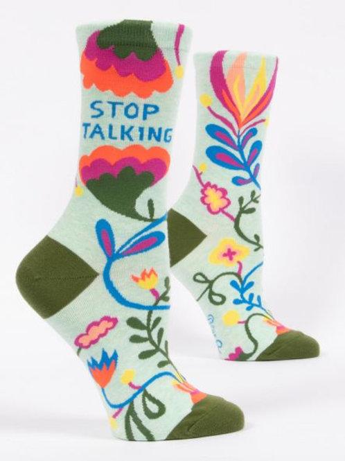 Women's Stop Talking Crew Socks