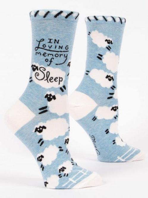 Women's In Loving Memory Sleep Crew Sock