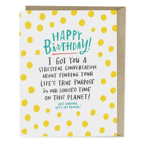 Stressful Conversation Birthday Greeting Card