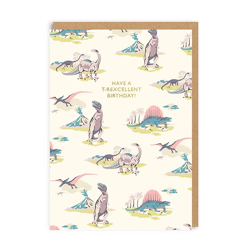 Have A T-Rexcellent Birthday Greeting Card