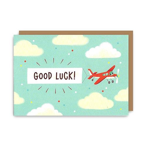 Good Luck Plane Greeting Card