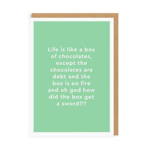 Life Is Like A Box Of Chocolates Greeting Card