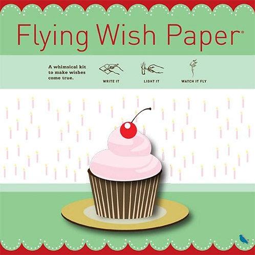 Cupcake Flying Wish Paper