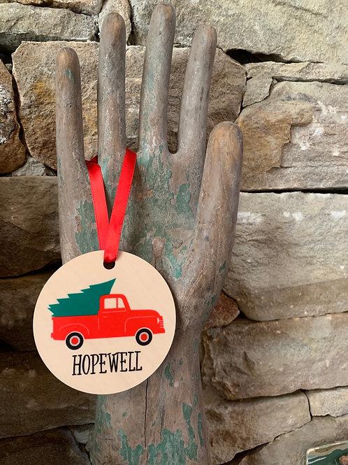 Hopewell Truck Ornament