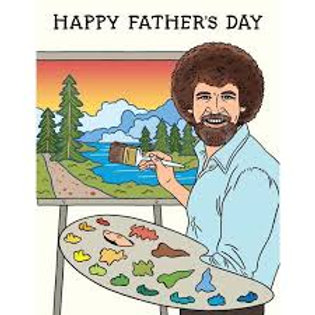 Happy Father's Day Bob Ross Greeting Card