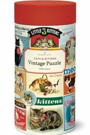 1000 Piece Vintage Cats & Kittens Puzzle