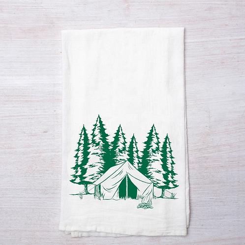 Camping Tea Towel