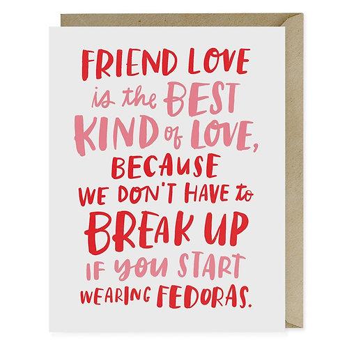 Friends Fedoras Greeting Card