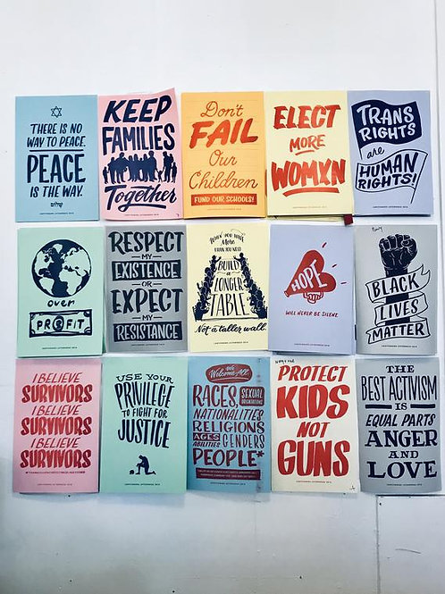 Protest Posters Set of 15