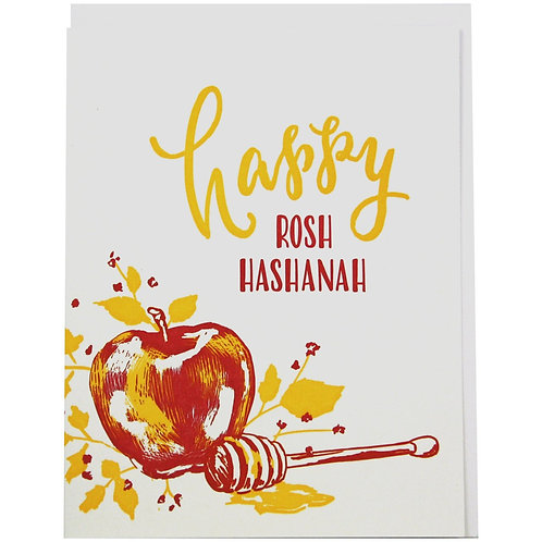 Apples and Honey Rosh Hashanah Card