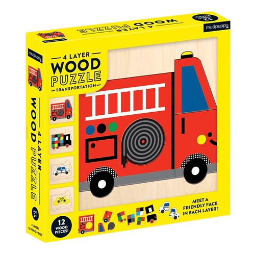 4 Layer Wood Transportation Puzzle