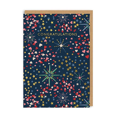 Congratulations Fireworks Greeting Card
