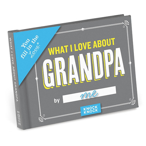 What I Love About Grandpa Fill-In Book