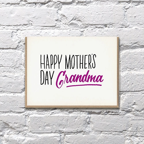 Happy Mother's' Day Grandma Greeting Card