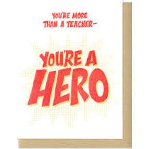 More Than A Teacher Greeting Card