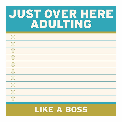 Just Over Here Adulting Sticky Notes