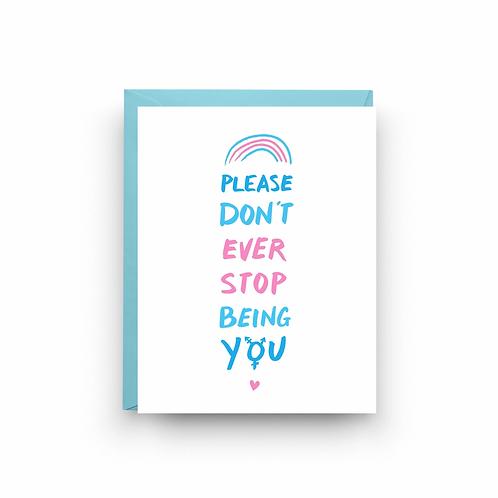 Transgender Pride Greeting Card