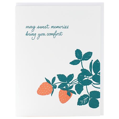 May Sweet Memories Bring You Comfort Greeting Card