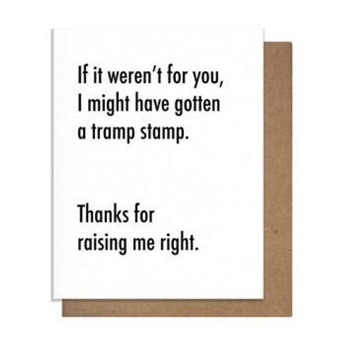 Tramp Stamp Greeting Card
