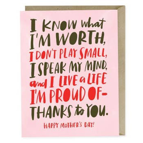 Know My Worth Greeting Card