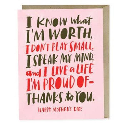 Know My Worth Greeting Card