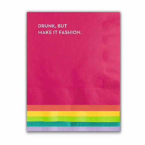 Drunk But Make it Fashion Cocktail Napkins